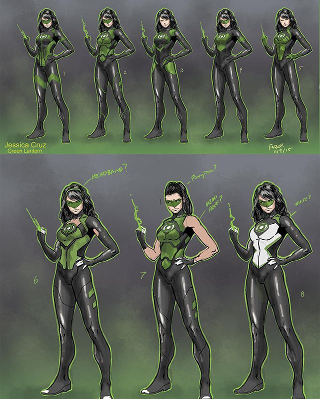 Original design for Jessica Cruz Green Lantern by Jason Fabok