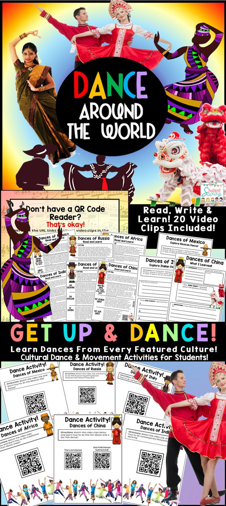 Multicultural Dance Activities for the Classroom. My elementary students will love this, perfect end of the year activity too!