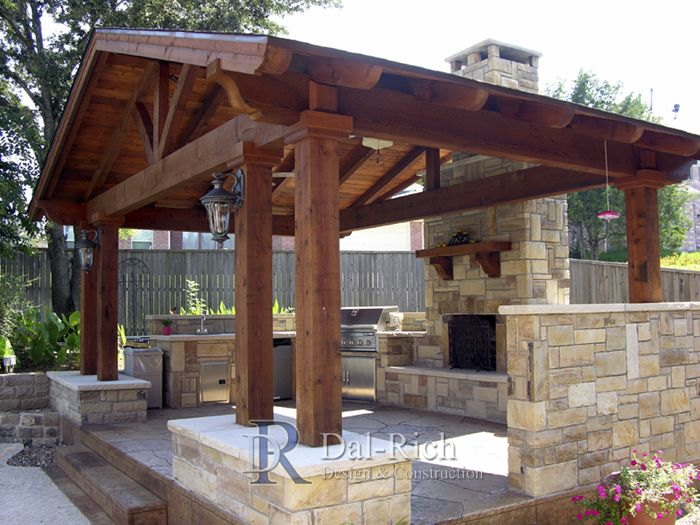 Best 25 backyard pavilion ideas on pinterest backyard for Plans for gazebo with fireplace