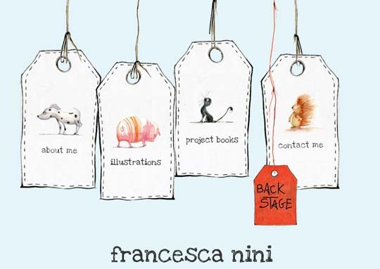 Really adorable website - Francesca Nini