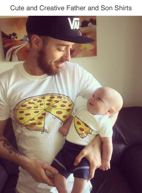 Tumblr: tastefullyoffensive: Creative Father and Son Shirts (h/t)