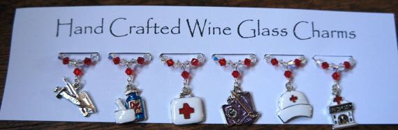 Wine Charms, Wine Glass Charms , Medical Charms, Hospital Charms,  Nurses - Swarovski Crystal Charms, New Home, Gala Dinners, Dinner Party, £9.99