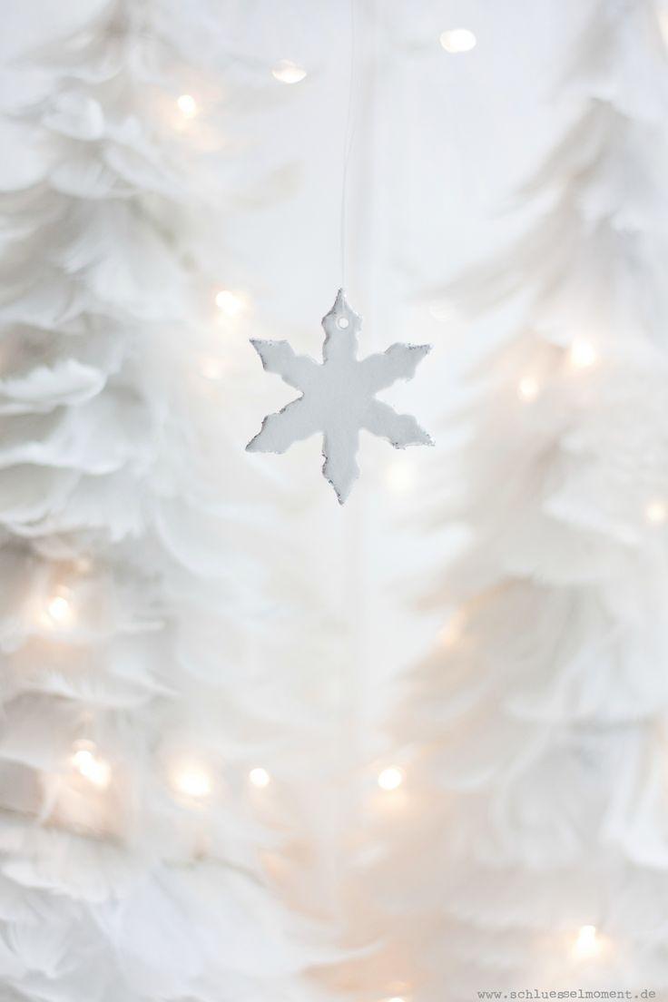 Clay hanger for Christmas and Winter time; Anleitung für winterliche Anhänger aus Selbsttrocknender Modelliermasse