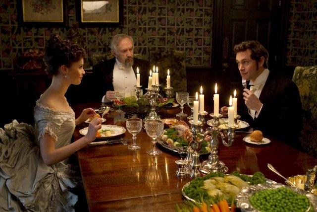 Still of Jonathan Pryce, Hugh Dancy and Felicity Jones in Hysteria