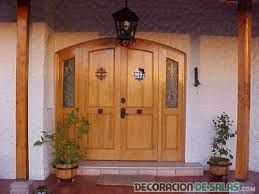 resultado de imagen para puertas madera entrada principal