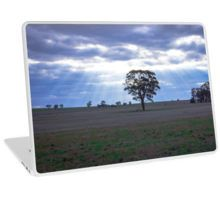 Lone Tree and a Curtain of Sunrays - Boort, Victoria Laptop Skin