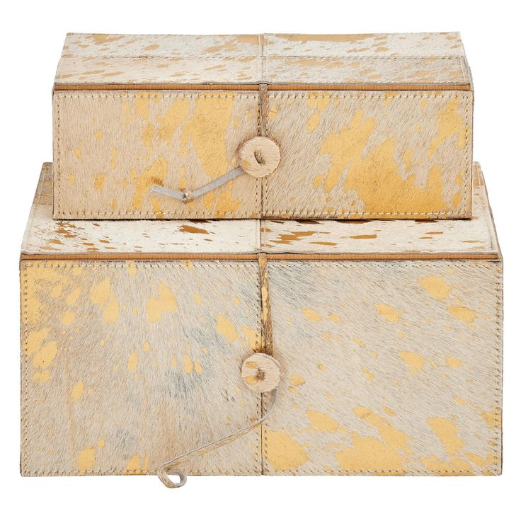 DecMode Modern Decorative Box - Set of 2 - 94998