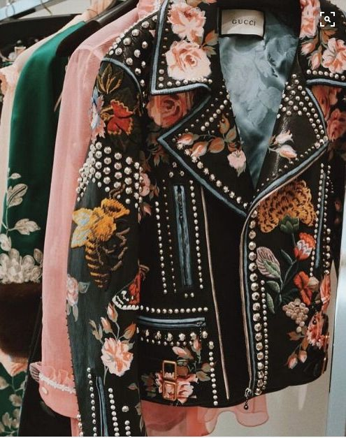 "Gucci, that embroidered Leather Jacket needs to ""Bee"" mine... ~~ Houston Foodlovers Book Club"