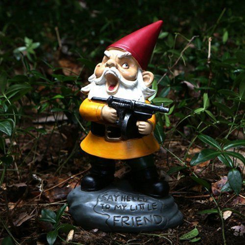 Sweet The  Best Ideas About Funny Garden Gnomes On Pinterest  Garden  With Great Angry Little Garden Gnome Scarface Machine Gun Yard Funny Figure Naughty  Novelty With Enchanting Garden Nudity Also  Seater Garden Furniture In Addition Garden Layout Design And Timber Garden Arches As Well As Gardening Hand Tools Additionally St Peters Garden Centre Opening Times From Ukpinterestcom With   Enchanting The  Best Ideas About Funny Garden Gnomes On Pinterest  Garden  With Sweet Timber Garden Arches As Well As Gardening Hand Tools Additionally St Peters Garden Centre Opening Times And Great Angry Little Garden Gnome Scarface Machine Gun Yard Funny Figure Naughty  Novelty Via Ukpinterestcom