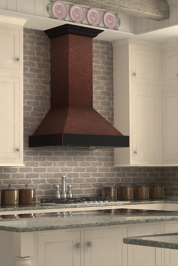 Best recirculating range hood - Zline 655 Ebxxx Designer Wall Mount Copper Range Hood Has An Embossed Copper Finish