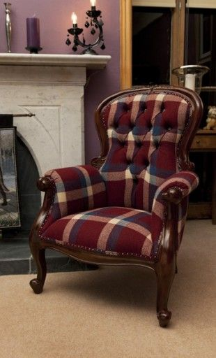 the lounge harris tweed upholstered chairs chair design interior ideas ...