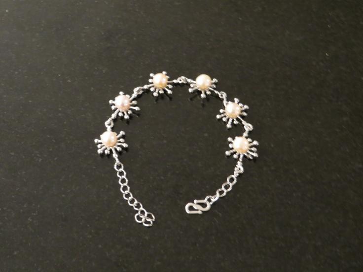 Now in store, freshwater pearl flower bracelet. $16.99 AUD   www.pretty-things.com.au