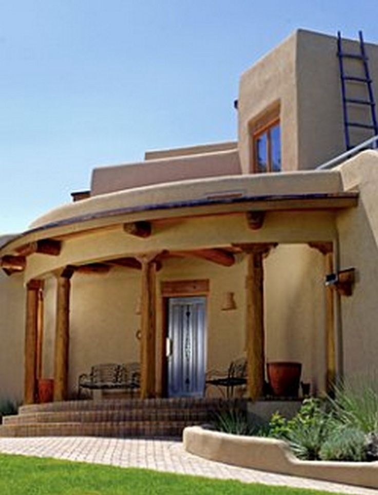 Modern adobe house exterior design 99 amazing ideas 34 for Cost to build adobe home