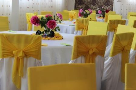 Decoratiuni sala galben