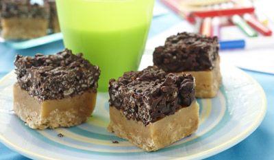 Carrés au caramel croustillants divins recette