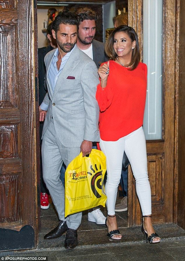 Still going strong:Eva Longoria and her husband José Antonio Baston appeared more loved-up than ever on Tuesday, as they enjoyed a romantic dinner together in Madrid