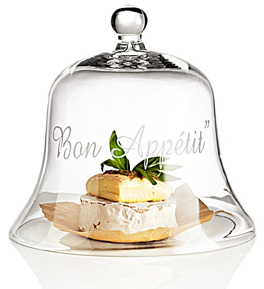 Pier 1 Bon Appétit Dome will protect and present multiple cheeses, a pie or a cake at the peak of servability