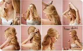 elegant hairstyles half up half down - Google Search