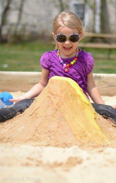 Sand Volcano Experiment