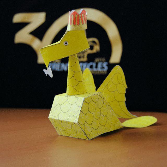 Retallable de l'Àliga de Tarragona. Recortable. Paper engineering. Paper cut-out toy.