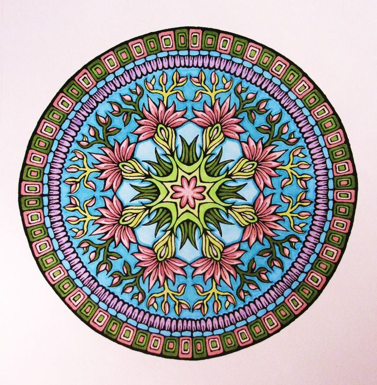 Mystic Mandala coloring book, by Dover.