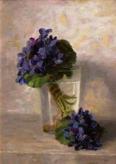"wasbella102: ""Elizabeth Whitehead - Violets """