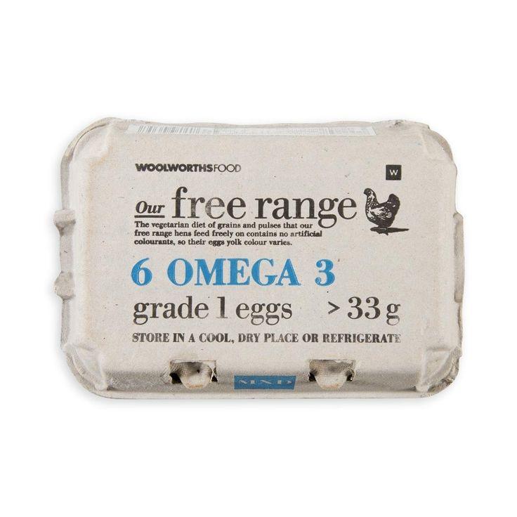 Free Range Omega-3 Egg 6Pk