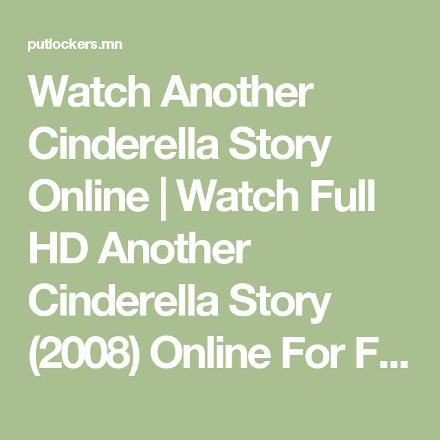 Watch Another Cinderella Story Online | Watch Full HD Another Cinderella Story (2008) Online For Free PutLockers