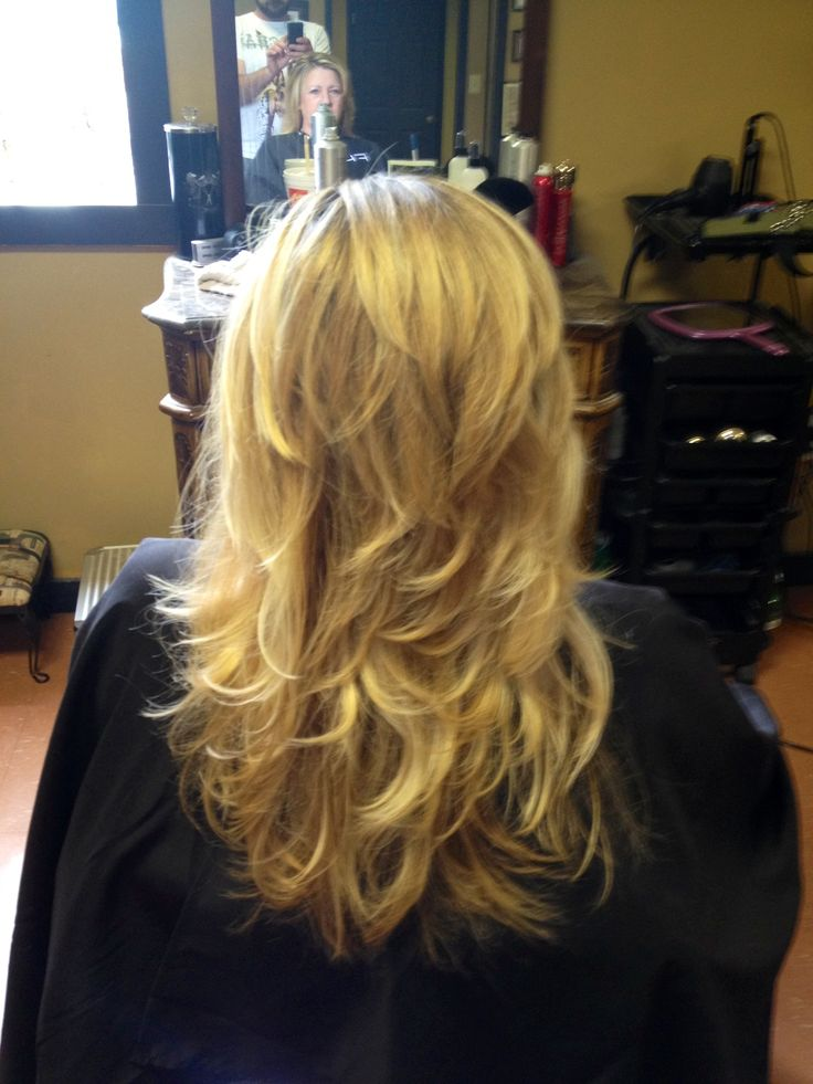 Another long hair short layer blowout