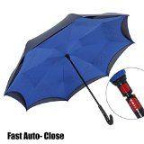 NEWBRELLAs Creative Auto-close Inverted Umbrella for Driver (Blue)