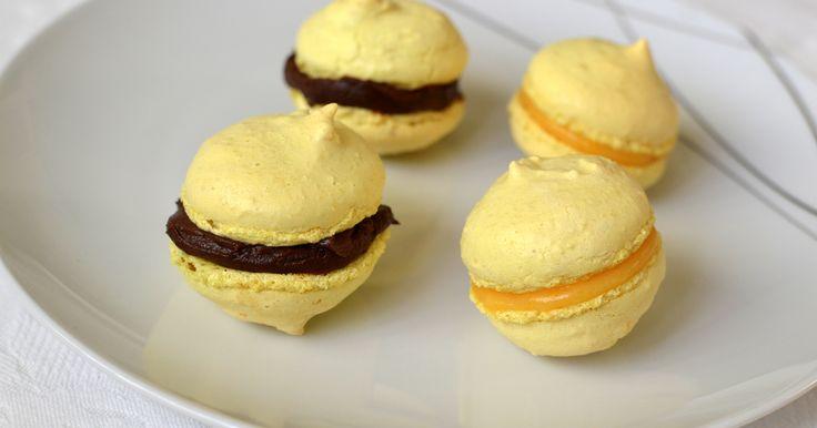 Chocolate and Lemon Macarons
