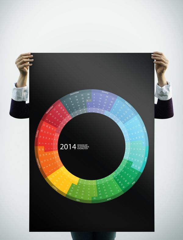 Creative calendar 2014 by Alexander Khomutov, via Behance