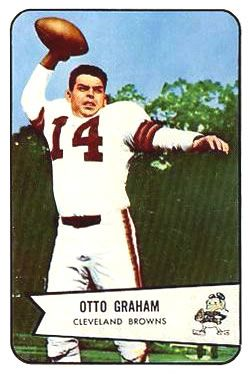 1954 Bowman 40 Otto Graham Cleveland Browns Football Card