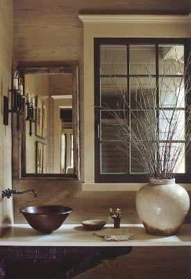 Contemporary Art Websites bobby mcalpine elegant rustic yet sophisticated bathroom counter