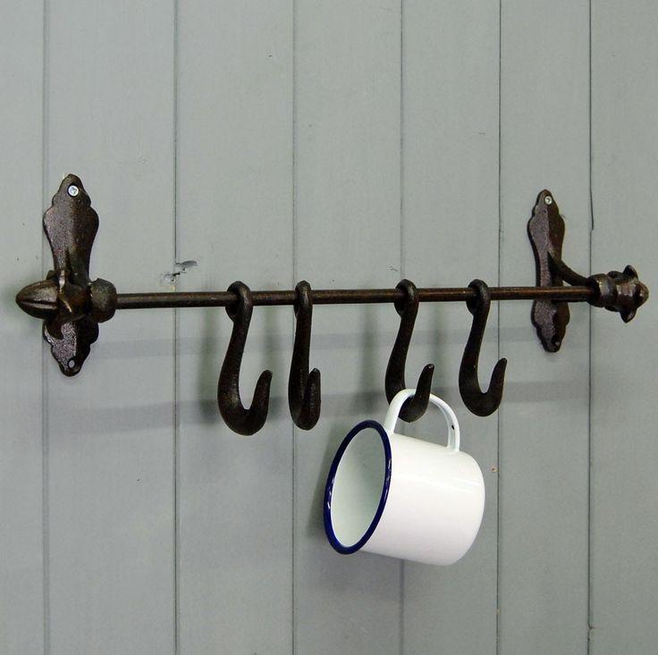 Best 25 utensil hooks ideas on pinterest cabinet shelving hanging spice rack and diy kitchen - Wrought iron silverware ...