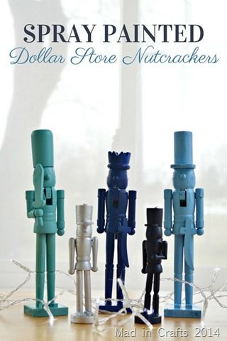 Spray Painted Dollar Store Nutcrackers