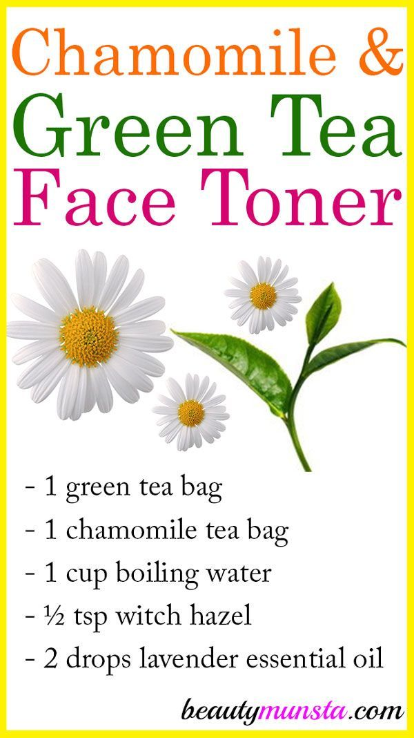 Try This Chamomile And Green Tea Toner As A Natural Homemade Skin Toning Firming Remedy Benefits Of Chamom Green Tea Toner Toner For Face Skin Care Remedies
