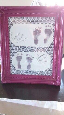 My babies footprints <3 DIY