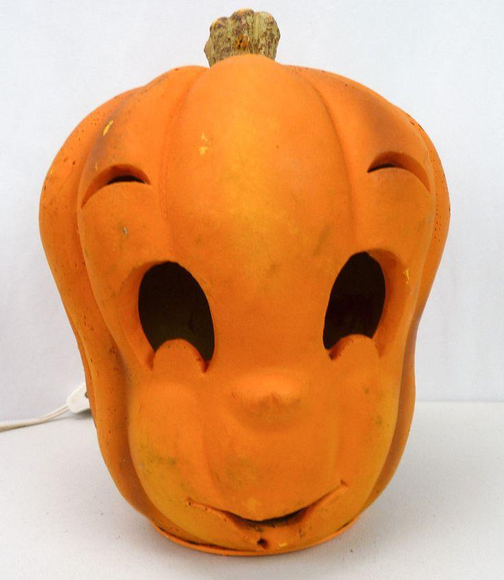 CASPER Ghost Pumpkin Halloween Display Light-Up Foam 1995 Trendmasters Blow Mold