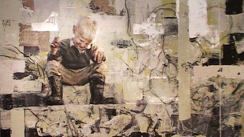 Ilkka Lammi maalasi kultakautta abstrakteihin kehyksiin
