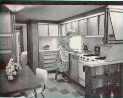1955 To 1960 Was A Time Of Great Mobile Home Kitchen Innovation Learn The Different Types Available From Carousel Slanted Styles