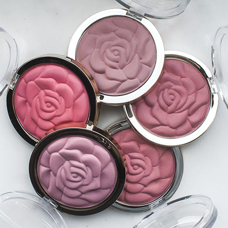 You can never have too many roses.Shown: Rose Powder Blush in Blossomtime Rose, Tea Rose, American Beauty Rose, Coral Cove, and Romantic Rose