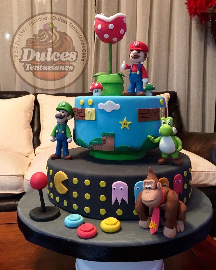 Torta mario bross arcade #mariobross #tortainfantil #cakemariobross
