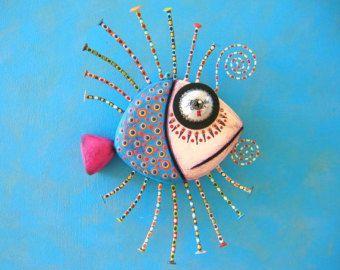 Gángster pescado II escultura Original del objeto por FigJamStudio