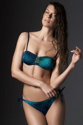 Milla by trendyol · Beachwear - Yeşil Straplez  Bikini Takımı MLWSS157344 sadece 69,99TL ile Trendyol da