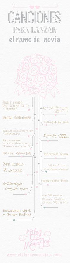 Canciones para lanzar el ramo de novia #bodas #ElBlogdeMaríaJosé #músicaboda #ramonovia
