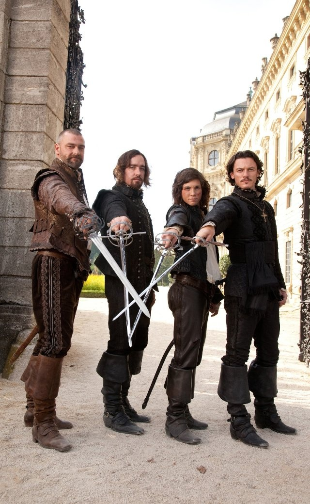 """The Three Musketeers"" - 2011  Logan Lerman, Matthew Macfadyen, Ray Stevenson, Luke Evans, Milla Jovoich, Christoph Waltz, Orlando Bloom"
