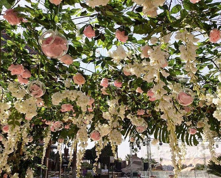 Floral arches are gorgeous central elements at your wedding.  #destinationwedding #aswan #floraldesign #flowerpower #floralarch #arch #outdoorwedding #eventstylist #weddingplanner #pergola