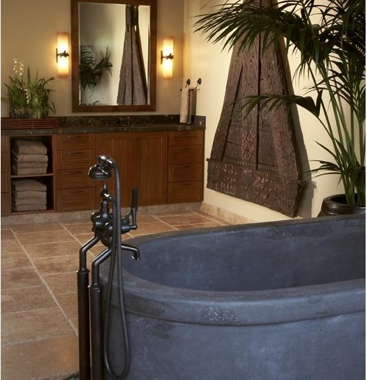Bathroom african safari decor design pictures remodel for Safari bathroom ideas