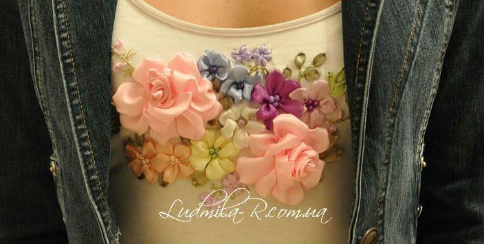 (1183) Gallery.ru / Маечка для доченьки - Вышивка лентами-мои работы 04/2011-2012 - lifeisbeautiful